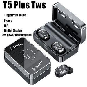 Bluetooth 5.0 TWS earphones T5 plus upgrade charger power 315 HIFI Noise Reduction AirDots headphone Fingerprint AI Control chagers Wireless Headset