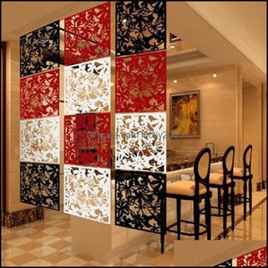 Screens Dividers Décor Home & Garden40Cmx40Cm Biombo Curtain Wall Panels Hanging Mobile Living Room Entrance Minimalist Fashion Chinese Fold