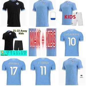 Versione del giocatore 21 22 22 Lazio Soccer Jerseys Sergej 2021 2022 SS F.CaiceDo Immobile Camicia calcio Correa Luis Alberto uomo Kit bambini Kit