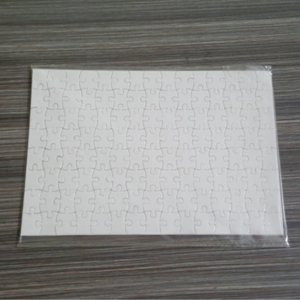 Sublimation Puzzle A4 Size DIY Sublimation Blanks Puzzles White Puzzle Jigsaw 80pcs Heat Printing Transfer Handmade Gift 1335 T2