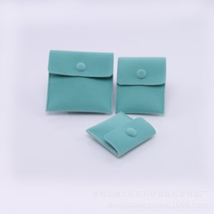 berp high end packing storage packaging boxes flip jewelry boxes button velvet jewelry storage bag gift packaging bag