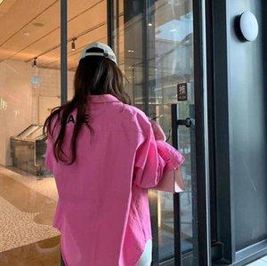 여성 의류 셔츠 파리 패션 여성 블라우스 가운, 레드 긴 소매 느슨한 옷깃 숙녀 드레스 재킷