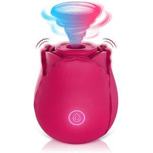 Sexspielzeug Rose Sauging Eier Zunge lecken 10 Frequenz Vibration Springen Weibliche Fernbedienung Tröster Milchartefakt