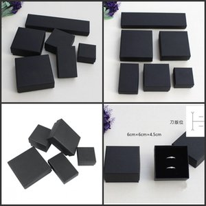 High Archives Black Kraft Jewelry Packing Bracelet Necklace Ring Ear Nail Box Christmas New Year Gift Valentine Customize 6 Size 183 Q2