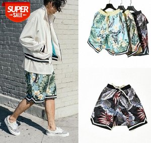 Street FOG Sports and Leisure Leaves Retro Summer Low-end Shorts Fear Of God Bieber Basketball #Qu5d