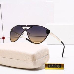 1726 м Высококачественные модные дизайнерские марка Солнцезащитные очки для мужчин и женщин путешествия покупки UV400 защита ретро оттенки пилота