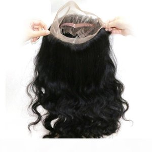360 Body Wave Lace Frontals Closures Human Hair Lace Frontals With Baby Hair Natural Hairline Adjustable Strap No Shedding No tangle