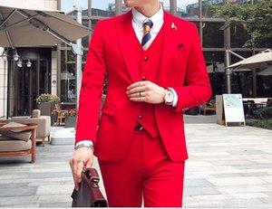 Classic One Button Wedding Tuxedos Peak Lapel Slim Fit Suits For Men Groomsmen Suit Prom Formal (Jacket+Pants+Vest+Tie) W776