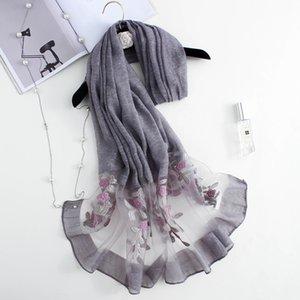 Bufandas de color puro de la simulación de la organza de las mujeres Bufandas Sun Shwl Playa Toalla Fabricantes al por mayor