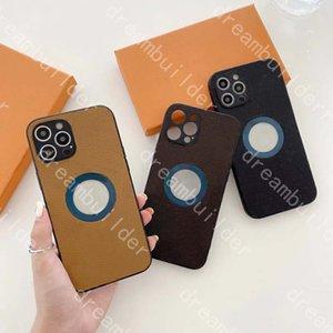 Cas de téléphone de haute qualité pour iPhone 12 Pro Max 11 7 8 Plus X XS XR XSMAX PU Coque en cuir PU de concepteur de concepteur de titulaire de carte de carte de protection précise