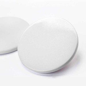 Кухонные сублимационные керамические горки круглые квадратные коврики для тумблеров 9см 9,5 см чистые белые сублимированные подставки DIY термический трансфер