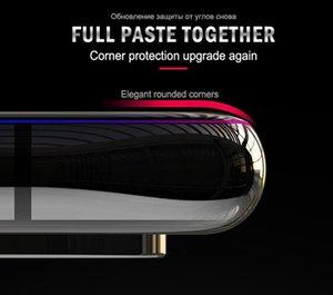 İPhone XS için uygun XS MAX X 106D Tam kaplı Temperli Cam Filmi, iPhone XR Koruyucu Ön Film için Tam Kavisli Kenar Ekran Koruyucu