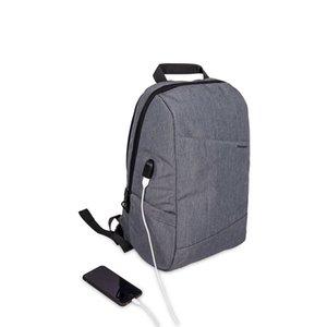 15.6 inç Su Geçirmez Laptop Sırt Çantası Saklama Torbaları Hava Akımı Geri Tasarım USB Şarj Bağlantı Noktası Seyahat Çantası ile