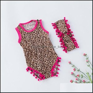 Childrens Swimming Equipment Sports & Outdoorschildrens Swimwear Toddler Baby Sleeveless Leopard Print Shell Romper+Headbands Set Outfit 2 P