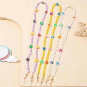 Sunglasses Frames Eyeglass Chains For Female Eyeglasses String Holder Beaded Pottery Chain Strap Glasses Lanyard Cord Presents