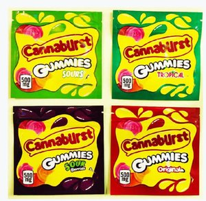 IN STOCK 500mg Empty Cannaburst Gummies TPICAL Candy Packaging bag Aluminum Foil zipper Gummy dfgdfhy bag