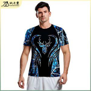 & Men's Sweatshirts Hoodies Fashion summer trend printed short sve round neck T-shirt for men