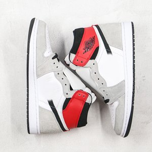 High quality (boxed) men's Jumpman 1 basketball shoes and women's Ash red outdoor casual sports