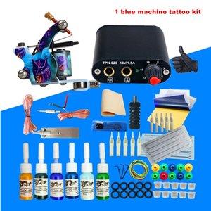 Complete Tattoo Gun Kit для Starter Newnly Power Power Tower Inks Иглы Guns Mell Body Art Machine Set Bookymakeup