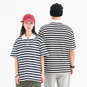 Pure Cottont-shirt Sommer Short Xinchen Herren Polo 2021 Hemd Lose Beiläufige Streifen Halbhülse