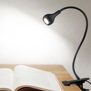 Arbitrary Rotation Metal LED Desk Lamp Foldable USB Rechargeable Holder Reading Clip Lights Light Q1U8 Table Lamps