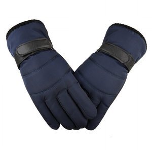 Down Cotton Men's Autumn and Winter Korean Thickened Down Touch Screen Warm Windproof Waterproof Riding Motorcycle Gloves
