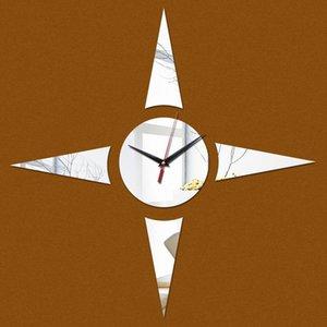 Wall Clocks Acrylic Mirror Clock Modern Design Reloj De Pared Watch Living Room Needle Euro