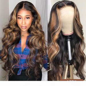 Ishow Body Wave 13x1 Lace Part Wigs Ginger Blue Red Pink 99j Colorful Human Hair Lace Front Wigs Pre Plucked Human Hair Wigs