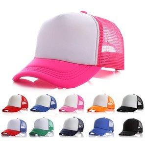 Kids Blank Trucker Cap Party Hats children Duck tongue Mesh Caps baseball Hat spring and summer sunbonnet T9I001224