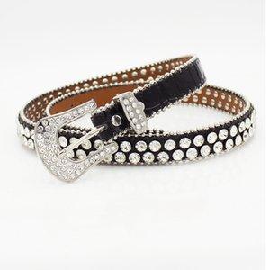 New trendy fashion luxury designer beautiful sparkling diamond zircon leather belt for woman dress jeans 110cm 3.6 ft