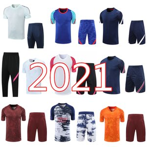2021 Real Madrid Hommes Chemise à manches courtes Suit Tracksuit 20 21 Mbappe Icardi Shorts de Soccer Pantalon de football Chemises de football Ensemble uniforme