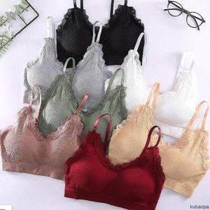 Camisoles & Tanks Wireless Sling Lace Bra For Women Beautiful Back Thin Section KU