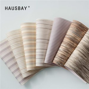 Blinds Customized Size Linen Roller Striped Window Curtain Blackout UV Blocking For Office Living Room Bedroom JR1006