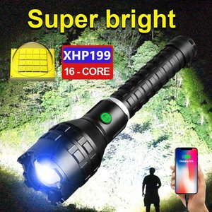 Flashlights Torches XHP199 High Power Led XHP160 Ultra Powerful Torch Light Rechargeable Tactical Flash 18650 XHP90 USB Lantern