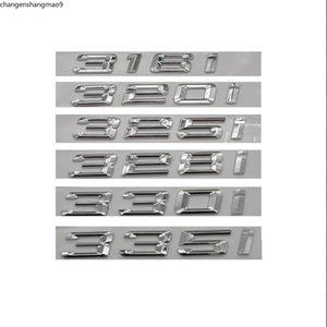 Chrome Silver ABS Number Letters Word Car Trunk Badge sticker Emblems for BMW 3 Series 318i 316i 320i 330i 335i 325i 328i 340i