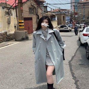 Women's Trench Coats Net Red Same Small Man Medium Long Autumn Coat Windbreaker Female 2021 Korean Versatile Street Fried