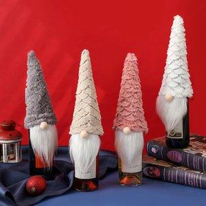 Christmas Gnomes Wine Bottle Covers Faceless Elderly Doll Wine Bag Xmas Decorations w-01162