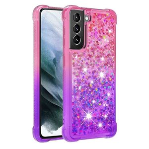 Galaxy S21 Ultra 5G Cases Glitter Clear Sparkly Bling Rugged Shockproof Hybrid Protective Girls Women Phone Cover for Samsung S21Plus