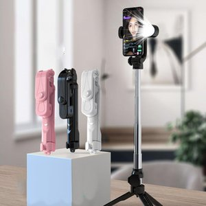 Selfie Monopods 2021 Bluetooth-compatible Wireless Stick Mini Tripod Extendable Monopod Light Remote Shutter For IOS Android Phone