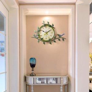 Wall Clocks Vintage Pastoral Creative Mute Clock Living Room European Minimalist Art Chart