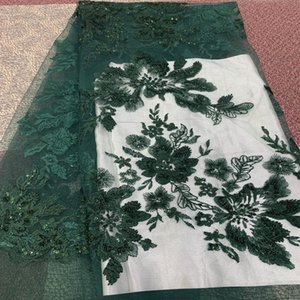 Ribbon 2021 Selling African Tulle Lace Fabric Flower Embroidery Swiss Voile High Quality Nigerian Beaded For Bridal