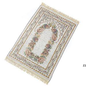 70*110cm thin Islamic Muslim Prayer Mat carpet Salat Musallah Rug Tapis Carpets Tapete Banheiro IslamicPraying Mats sea shipping HWB8971
