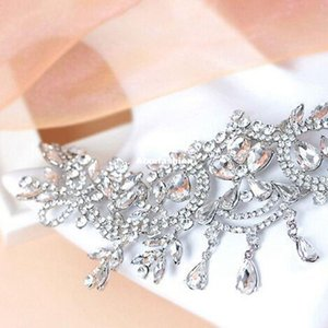 New Luxury Leaf Bride Frontlet Crystal Headpieces Headband Bridal Hair Accessories Vintage Princess Women Wedding Hair Jewelry ps2420