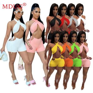 Women's Tracksuits Wholesale Lots Bulk Clothes Tracksuit Women Crop Top Shorts Suits Items Summer Sexy Solid Sleeveless Outfits M6116