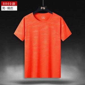 Camuflaje de verano para hombre naranja camiseta de fútbol de manga corta refrescante refrescante transpirable deportes de bádminton de secado rápido de ropa de secado rápido y absorbente camiseta cómoda