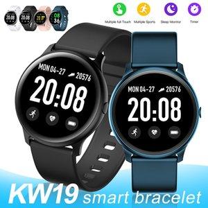 KW19 Smart Watch Waterproof Blood Pressure Heart Rate Monitor Fitness Tracker Sport Intelligent Men Wristbands For Andriod IOS