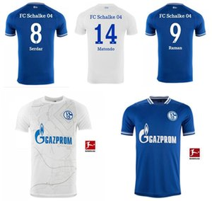 2021 2022 fãs Versão Huntelaar Jerseys de futebol Kutucu 21 22 Serdar FC Schalke 04 Harit Homens Camisa de Futebol Ozan Casa Azul Branco Jersey