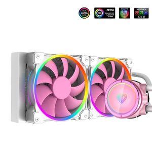 Fans & Coolings CPU AIO Water Cooling Kit Fan Ventilador For Intel LGA2066 2011 1200 1151 1150 1155 1156 AMD AM4,240 Radiator PINKFLOW 240-P