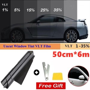 50cmX6m 1 5 15 25 35 50 Percent VLT Window Tint Film Glass Sticker Sun Shade For Car UV Protector Foils Films Sunshade