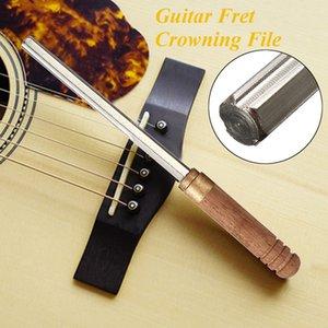 3 in 1 Guitar Fret Hexagonal File Musical Instrument Fret Repair Polishing Tool-Wooden Handle